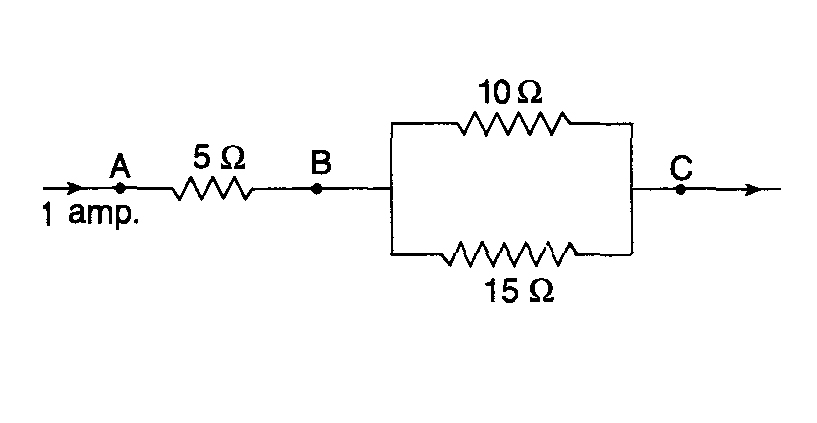 Three Resistors Are Connected As Shown In The Diagram Through The