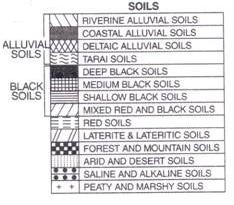 Location of different kinds of crops and soil on the map for Pictures of different types of soil with their names