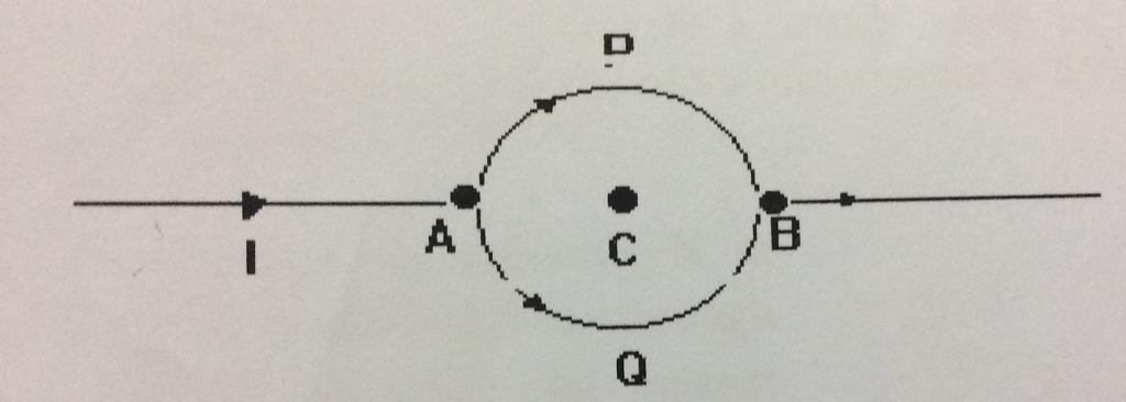 Consider the circuit shown here where APB and AQBare semi-circles ...