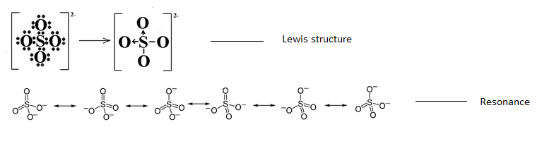 Resonance Structure Of So4 2- - Chemistry