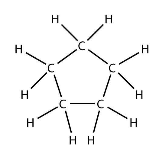 Draw The Electron Dot Structure Of Cyclopentane Science