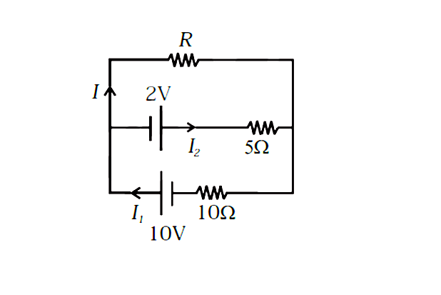 two cells of e m f 10 v and 2 v and internal resistances