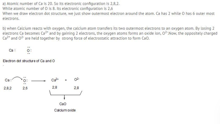 Electron Dot Diagram For Calcium And Oxygen House Wiring Diagram