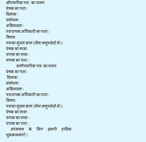 format for hindi formal letter writting hindi 10649137 meritnation com