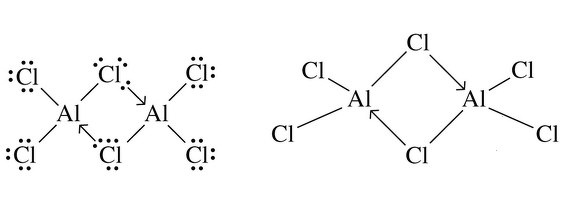 could someone explain the lewis structure diagram of covalent compound al2cl6