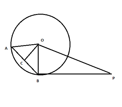 Pb Is A Tangent To The Circle With Centre O At B Ab Is Chord Of