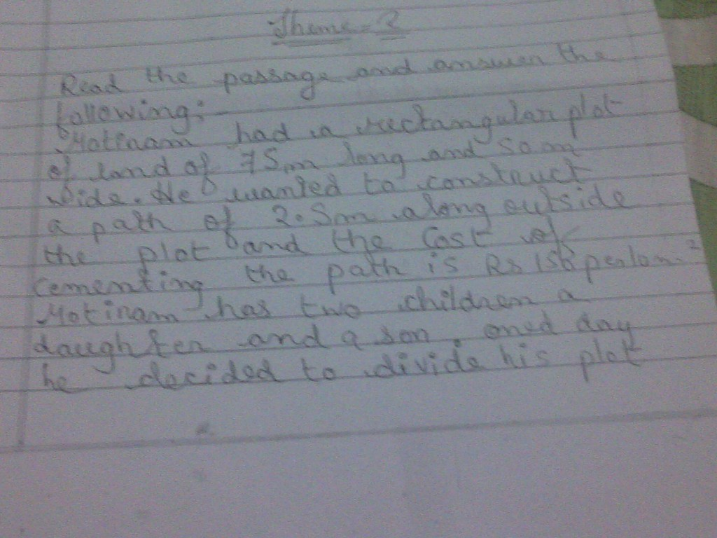 this is my maths otba of sa 2 please give me important questions and ...