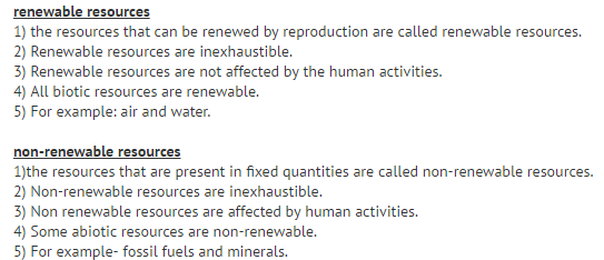 explain the difference between renewable and nonrenewable resources