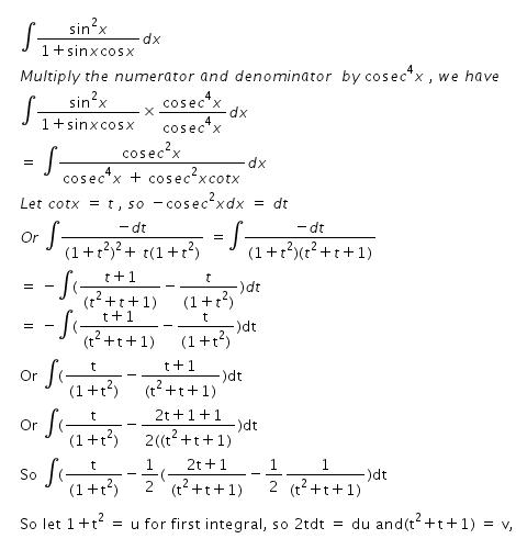 Integral Of Sin 2x 1 Sinx Cosx Dx Math 6998492 Meritnation Com