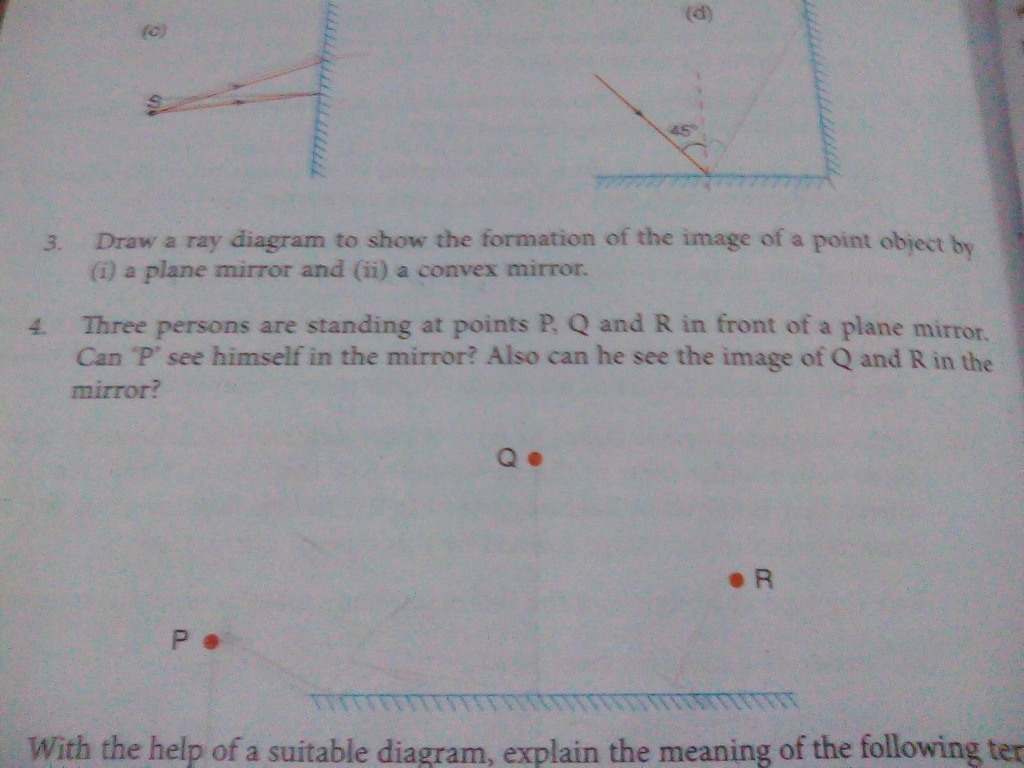 Please Answer This Question Science 10599883 How Do You Draw Ray Diagrams On A Plane Mirror With Point Objec