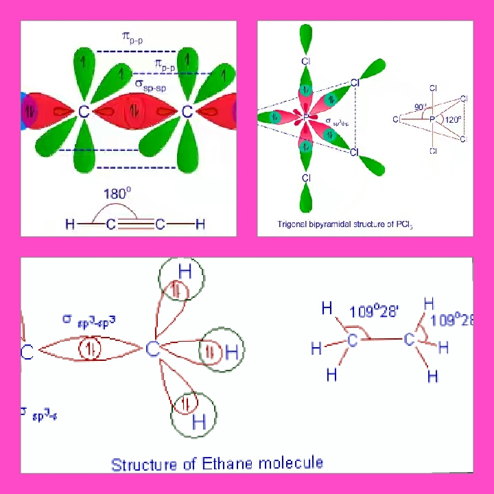 Define Hybridization And Explain The Shape Of C2h2 C2h6 And Pcl 5 Using Valence Bond Theory Chemistry Coordination Compounds 10723069 Meritnation Com