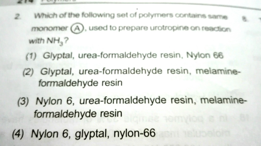 Solve this: - Chemistry - Polymers - 10898907 | Meritnation com