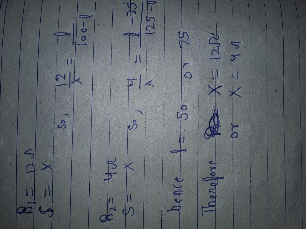 with a certain unknown resistance X in the right gap, the null point ...