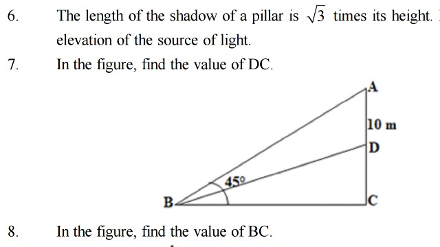 In the figure, find the value of DC - Math - Some Applications of