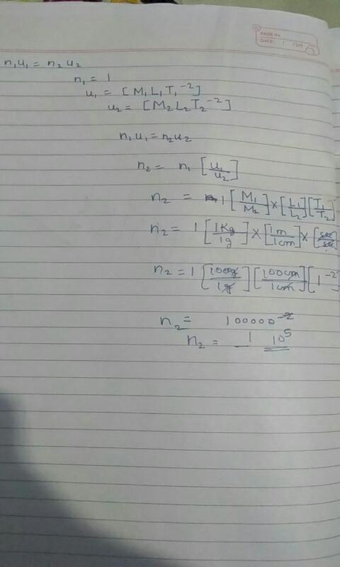 Convert 1 dyne into Newton - Physics - Units And