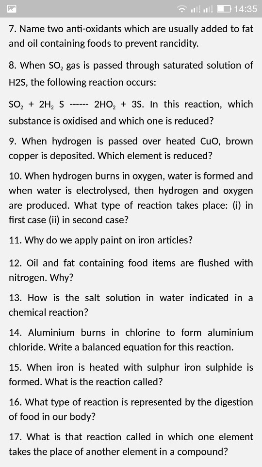 Can U Tell Me The Ans Of This Questions 7 Name Two Anti Oxidants