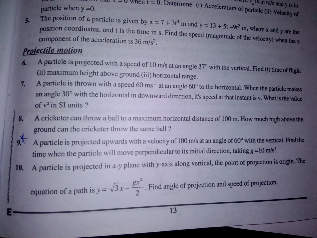 solve Q 6 nvsanayisin A wnen t — rmine (i) Acceleration Of