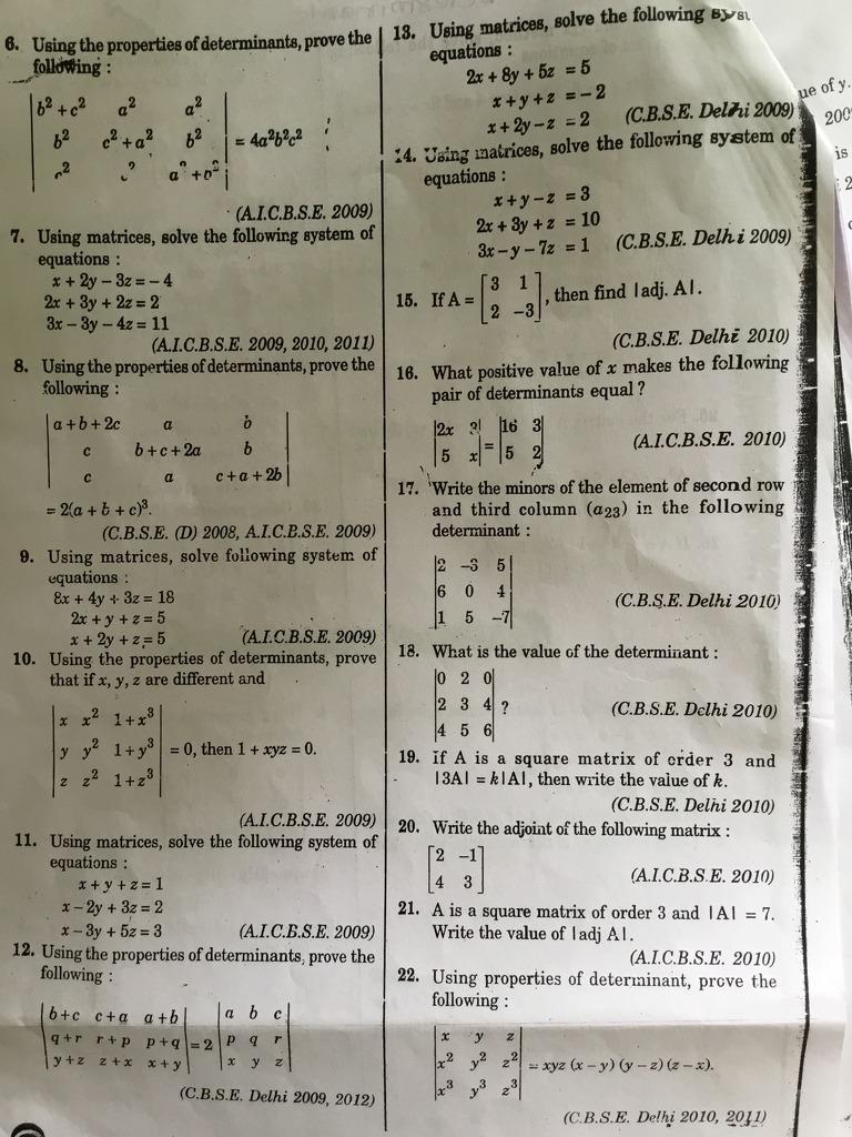 Q No 7 6 Using The Properã Esofdeterminantaprove The B2 4a2b2c2 02