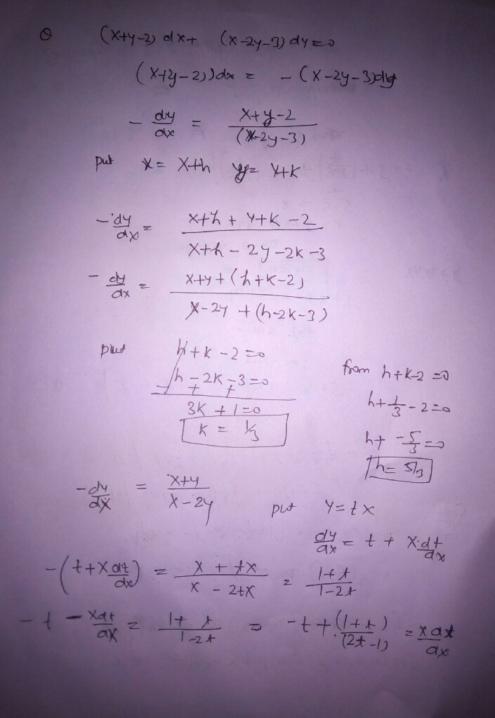 How to solve differential equations with x and y