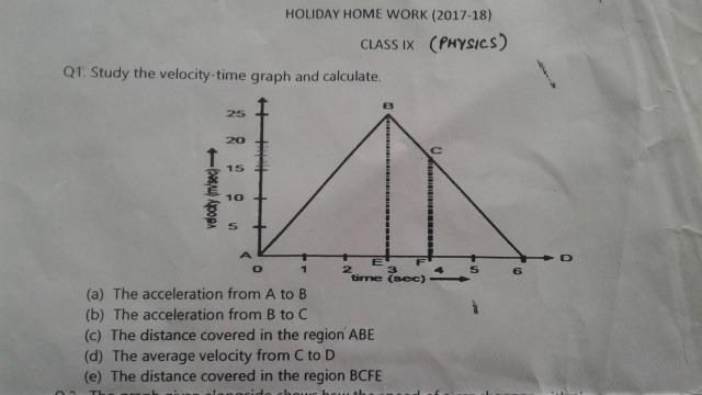 Solve This Holiday Home Work 2017 18 Class Ix Physics Qil Study