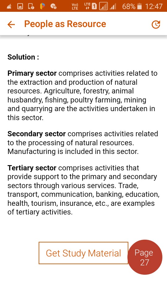 Name The Three Sectors Formed As Per Nature Of Economic Activity