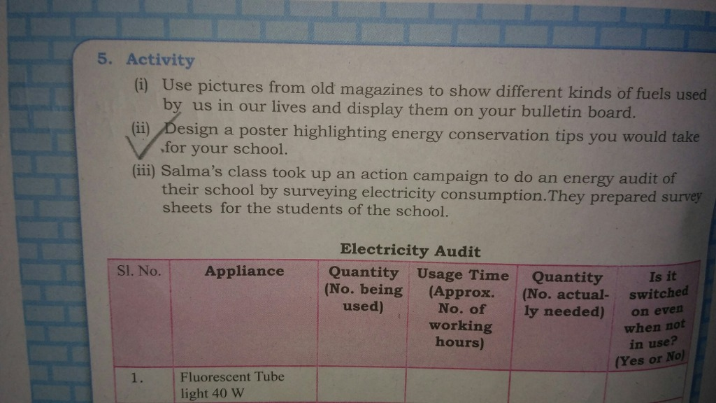Design A Poster Highlighting Energy Conservation Tips You Would Take For Your School ANSWER THIS QUETION FAST 2nd Part 5 Activity I Use Pictures From