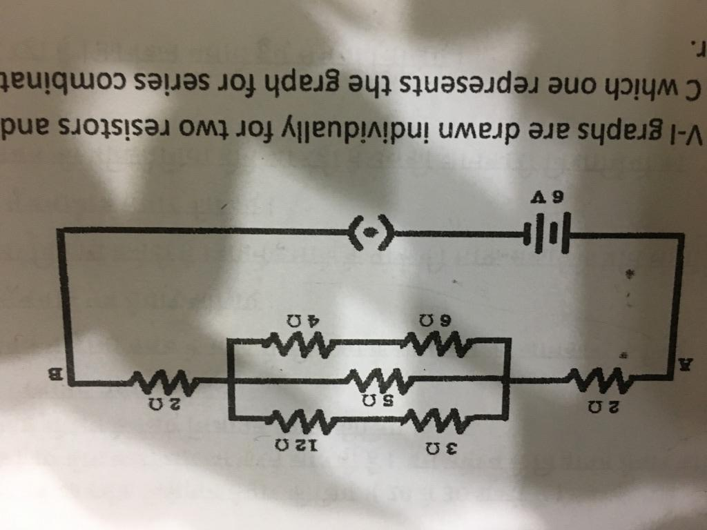 Capcupate The Equivalent Resistance Of Network Shown Between Find In This Circuit Points A And B Hence Current