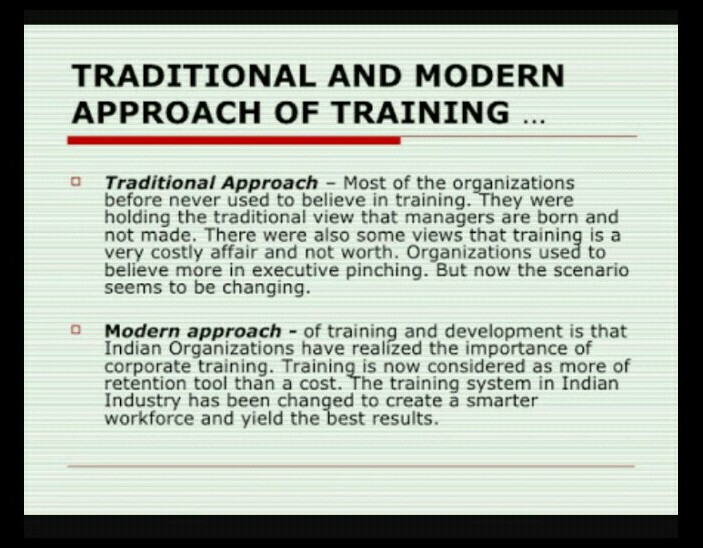 difference between traditional and modern approach