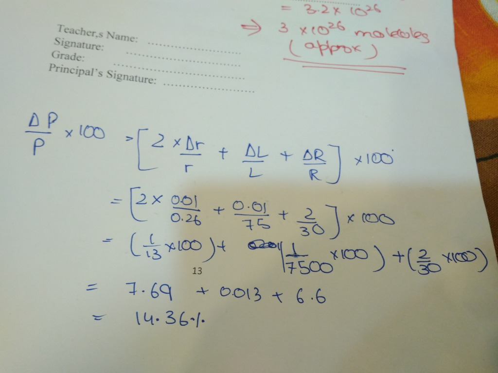 specific resistance p of a thin circular wire of radius cm ...