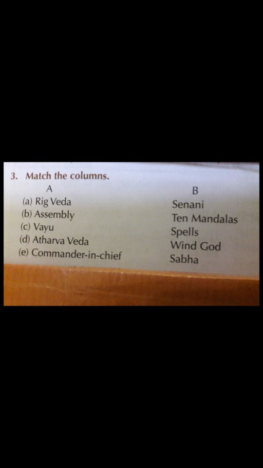 Solve this: 3 Match the columns (a) Rig Veda (b) Assembly ...
