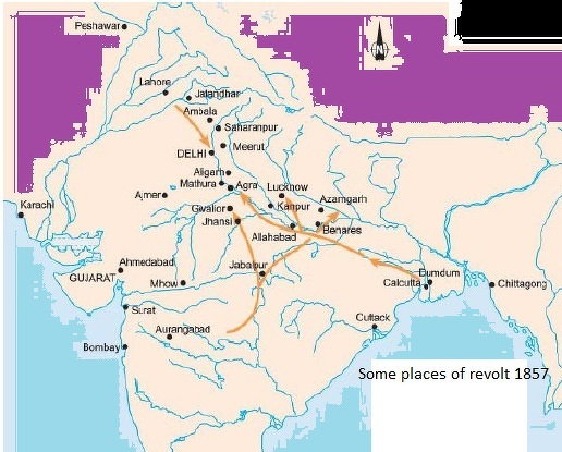 Meerut India Map.Meerut Jhansi Kanpur Lucknow Delhi Mark These Places In India