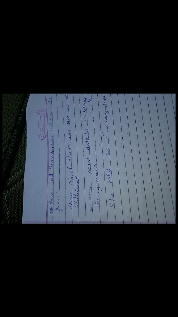 Ans plz change into indirect narration Q (b) Ram said to ...