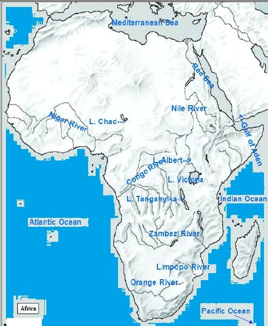 Locate lake Chad, Nile river and Niger river in sahara map ...