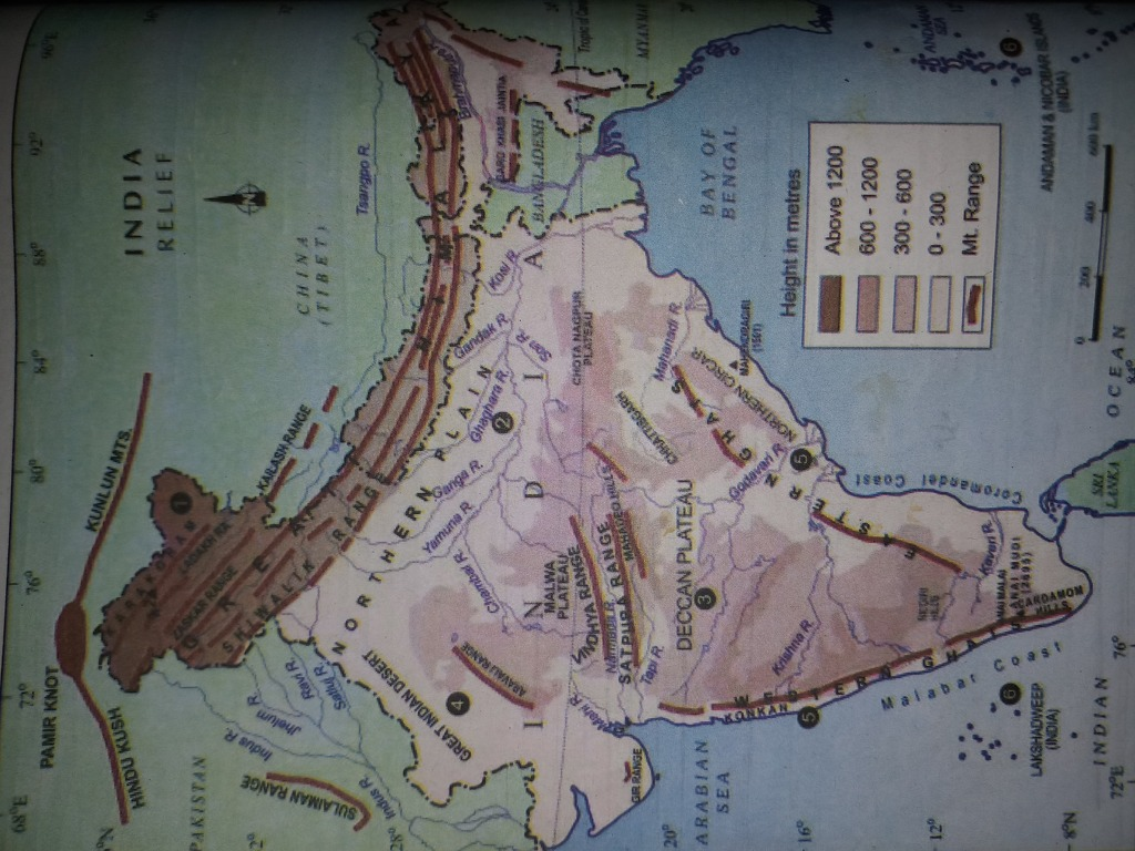 Here is the map of the relief