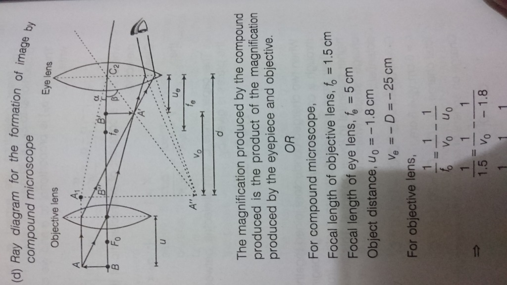 Draw ray diagrams to show the image formation in a compound this picture is taken by reference ccuart Gallery