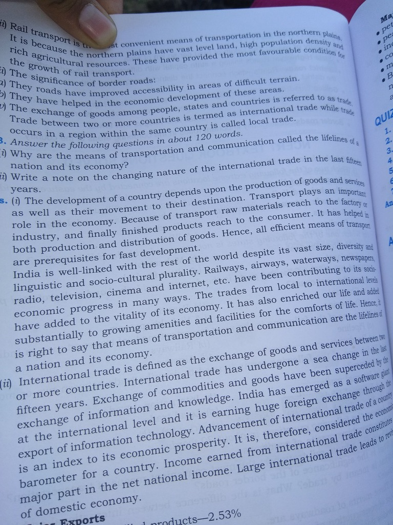 why are transport and communication called lifelines of the country ...
