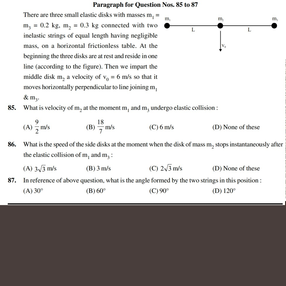 Math Physics Chemistry Questions Discussion Lists Dated 2018 03 04 Baut Hardisk Q No 86 Paragraph Type