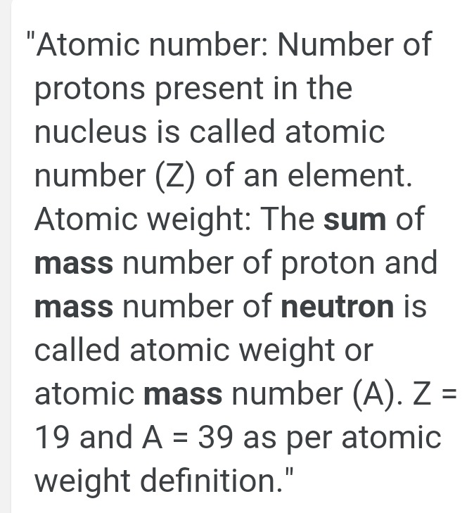 What is the formula of atomic number - Science - Chemical