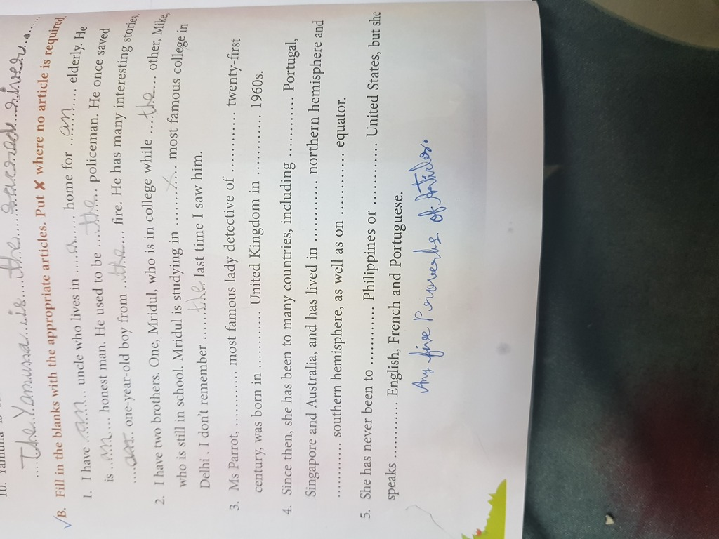 answer key for fun with grammar class 7 - English ...