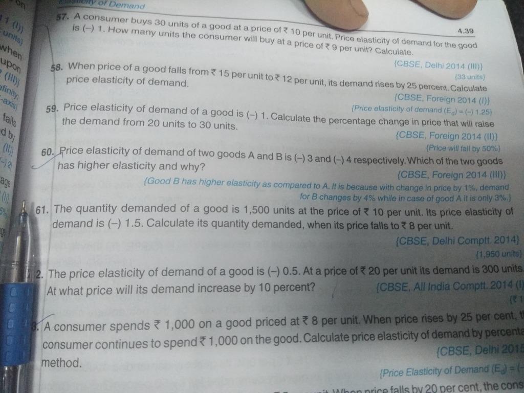 Solution Of Elasticity Of Demand Chapter Of Book Sandeep Garg