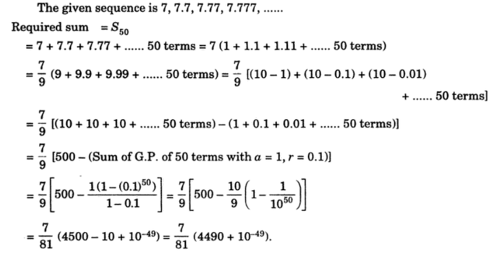 36 Find The Sum Of The Series 7 7 7 7 77 7 777 Math
