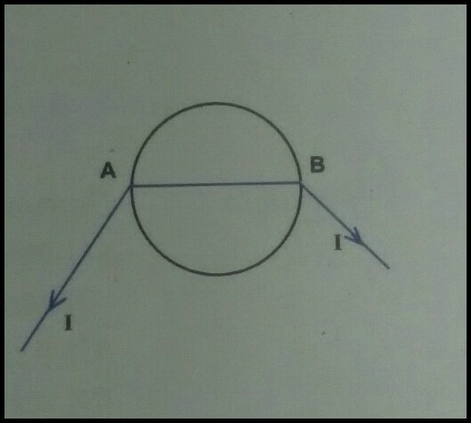 Q A wire of reisistance 0 5 ohm is bent in the form of a ...  Ohm Wiring Diagram on