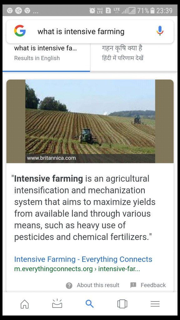 What is intensive farming - Social Science - Agriculture (Geography