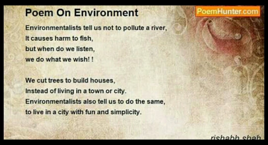 Poem On Energy Ecology And Environment English Nouns