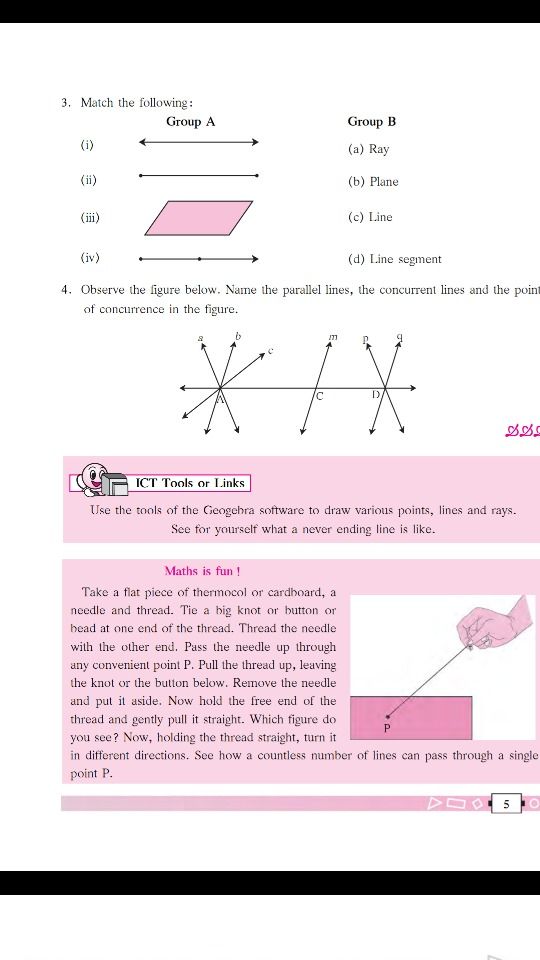 Basic Concepts In Geometry, Popular Questions: Maharashtra Class 6