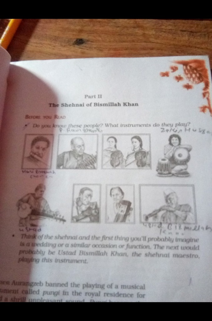 give me the name of these pictures Shehnai Of Bismillah Khan