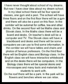 my dream school essay wikipedia