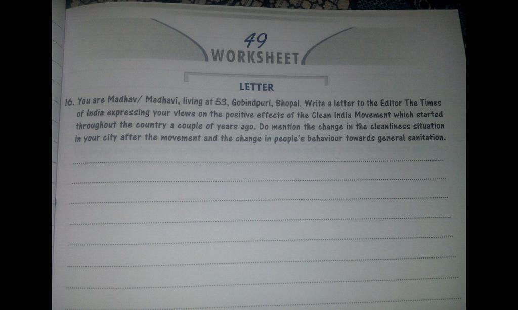 Plz Do This 49 Worksheet Letter 16 You Are Madhav. Plz Do This 49 Worksheet Letter 16 You Are Madhav Madhavi Living At 53 Gobindpuri Bhopal Write A To The Editor Times Of India. Worksheet. Worksheet Letter To The Editor At Mspartners.co