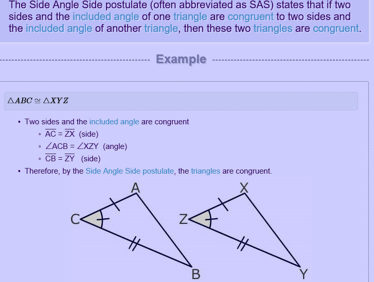 What is SAS - Math - Triangles - 12864511 | Meritnation com