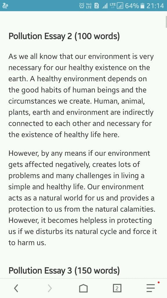a paragraph on pollution in adout  words  english  please find this answer